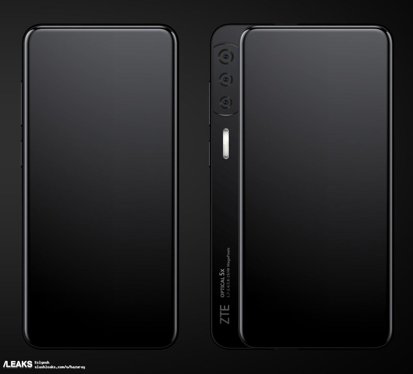 zte axon s full screen with slider renders large
